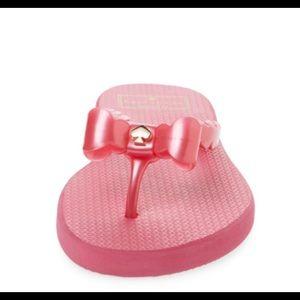 KATE SPADE Denise Flip Flop In Deep Pink